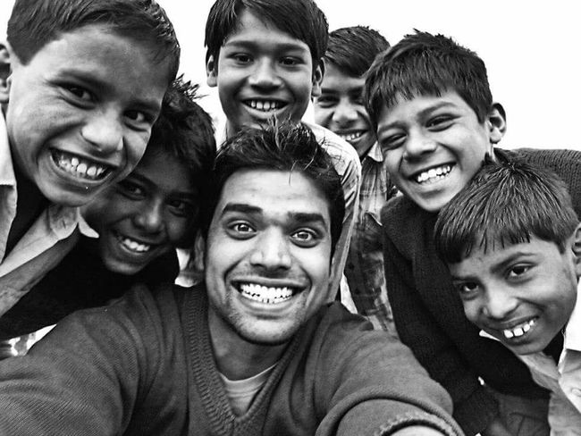 A group of kids playing in the ground and me.. Love Looking At Camera Bonding Portrait Togetherness Friendship Smiling Lifestyles Happiness Family Front Camera Toothy Smile Person Mobile In Bloom Springtime Freshness Close-up Non-urban Scene