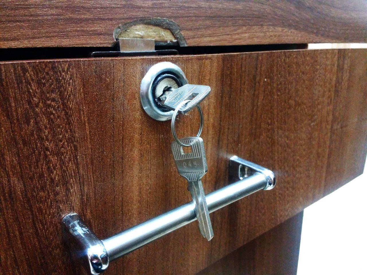 Door Wood - Material Metal Close-up No People Lock Day No Keyring Metallic Items Cupboard Keys Indoors