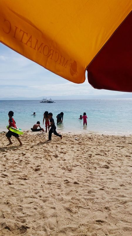Beach Sea Sand Water People Day Child Fun Summertime AyeEm Philippines  Phone Camera Vacations