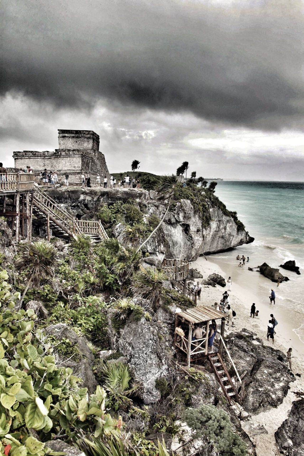 Tulum, México Cloud - Sky Built Structure Architecture Old Ruin Sky History Nature Tulum, Mexico Tulum , Rivera Maya. Abandoned Ancient Outdoors Building Exterior Travel Destinations No People Storm Cloud Scenics Water Horizon Over Water Beauty In Nature Travel Photography Travelling From My Point Of View Eye4photography  Mexico