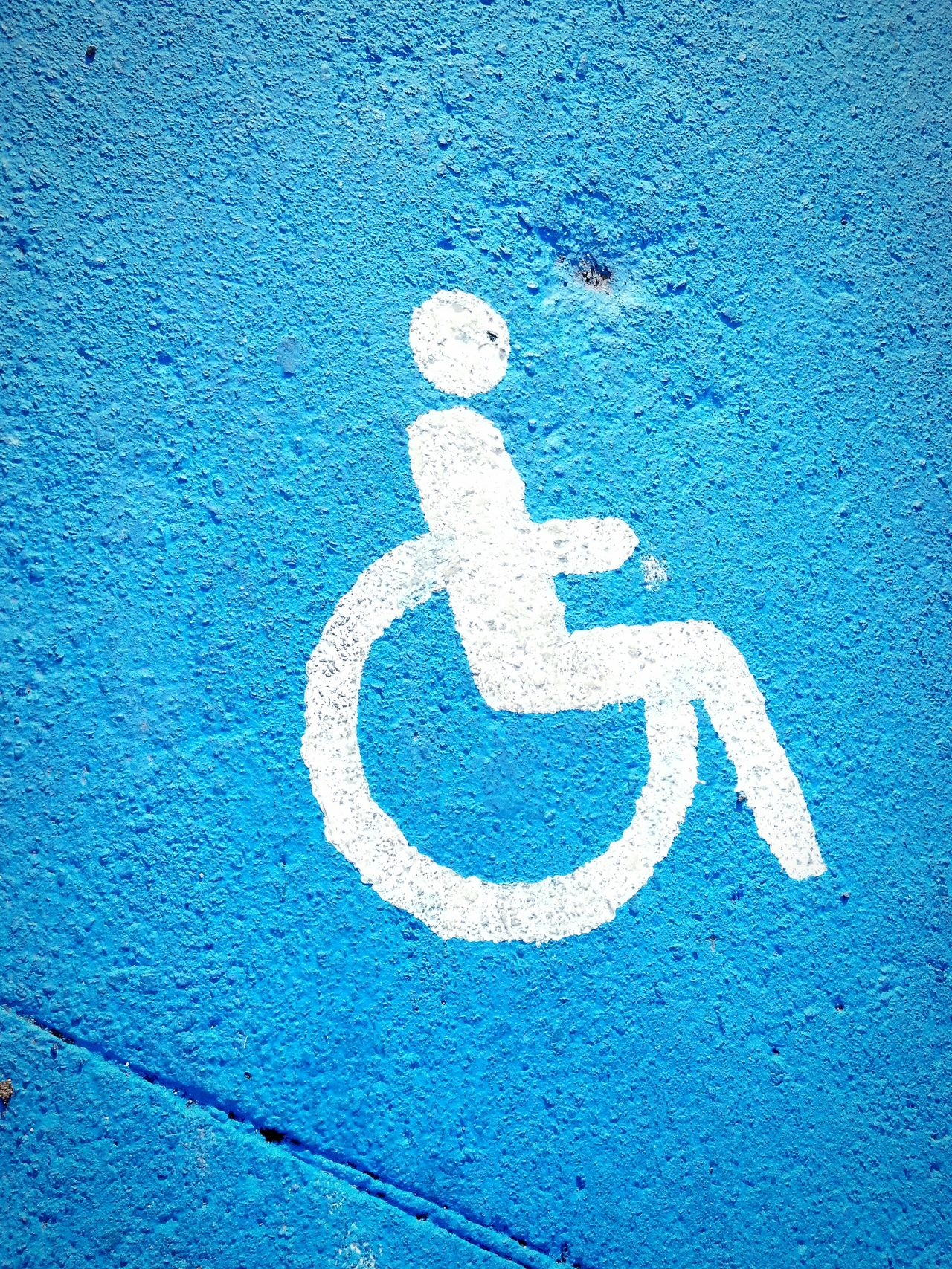Disabled Symbol Disabled Informatin Sign Disabled Icon Disabled Parking Disabled Sign Blue White Blue Paint On The Sidewalk Symbol Icon Sign