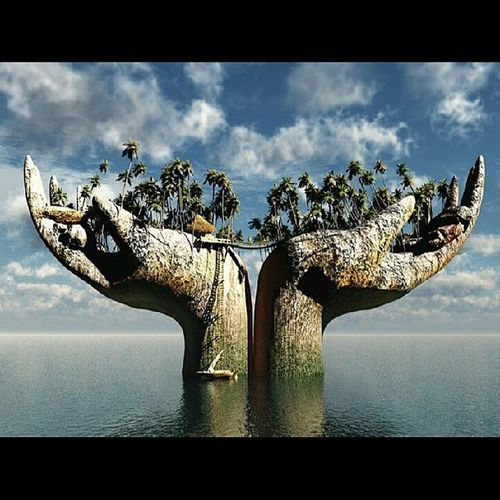 Amazing photo courtesy DesidnDautore on Flipboard Trees formed into hands nature