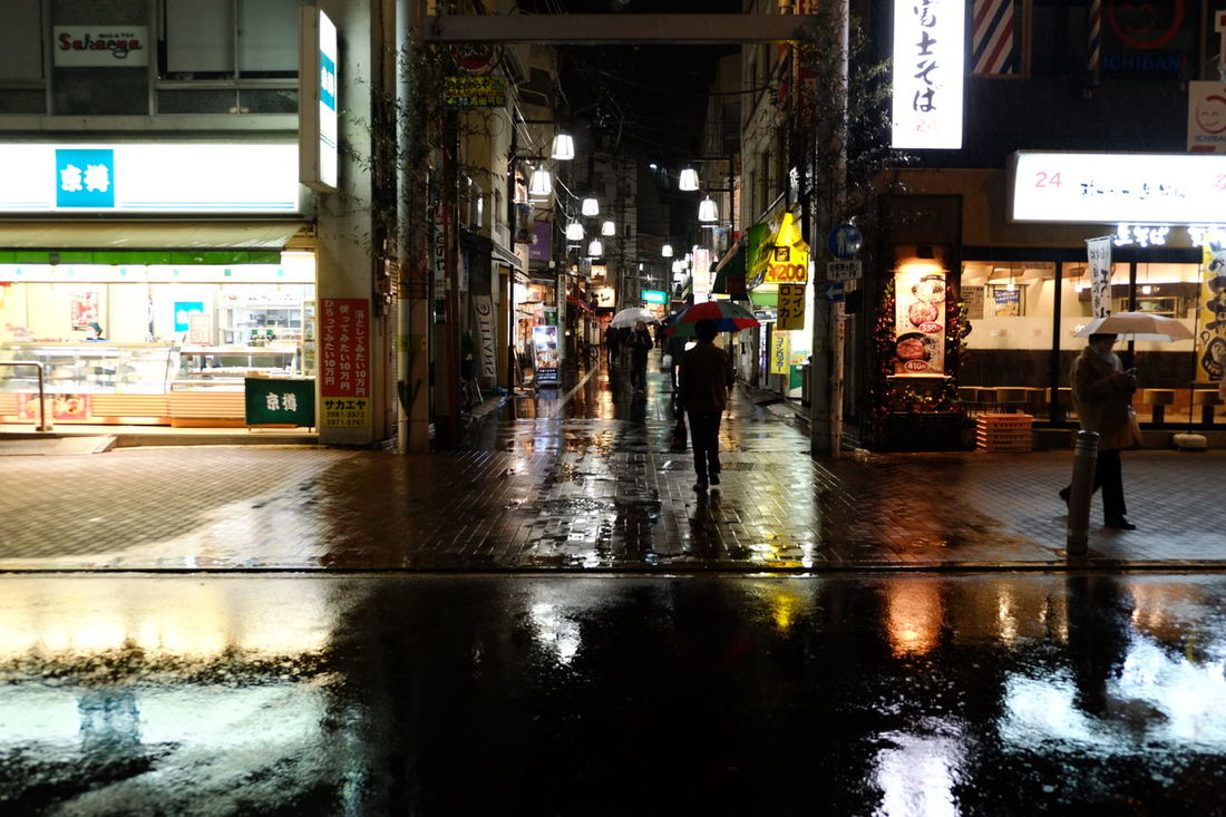 Wet City Life City Japan Photography Travel Photography Vacations Night Through My Lens Otsuka Fujifilm XE1 Fujinon 18-55mm
