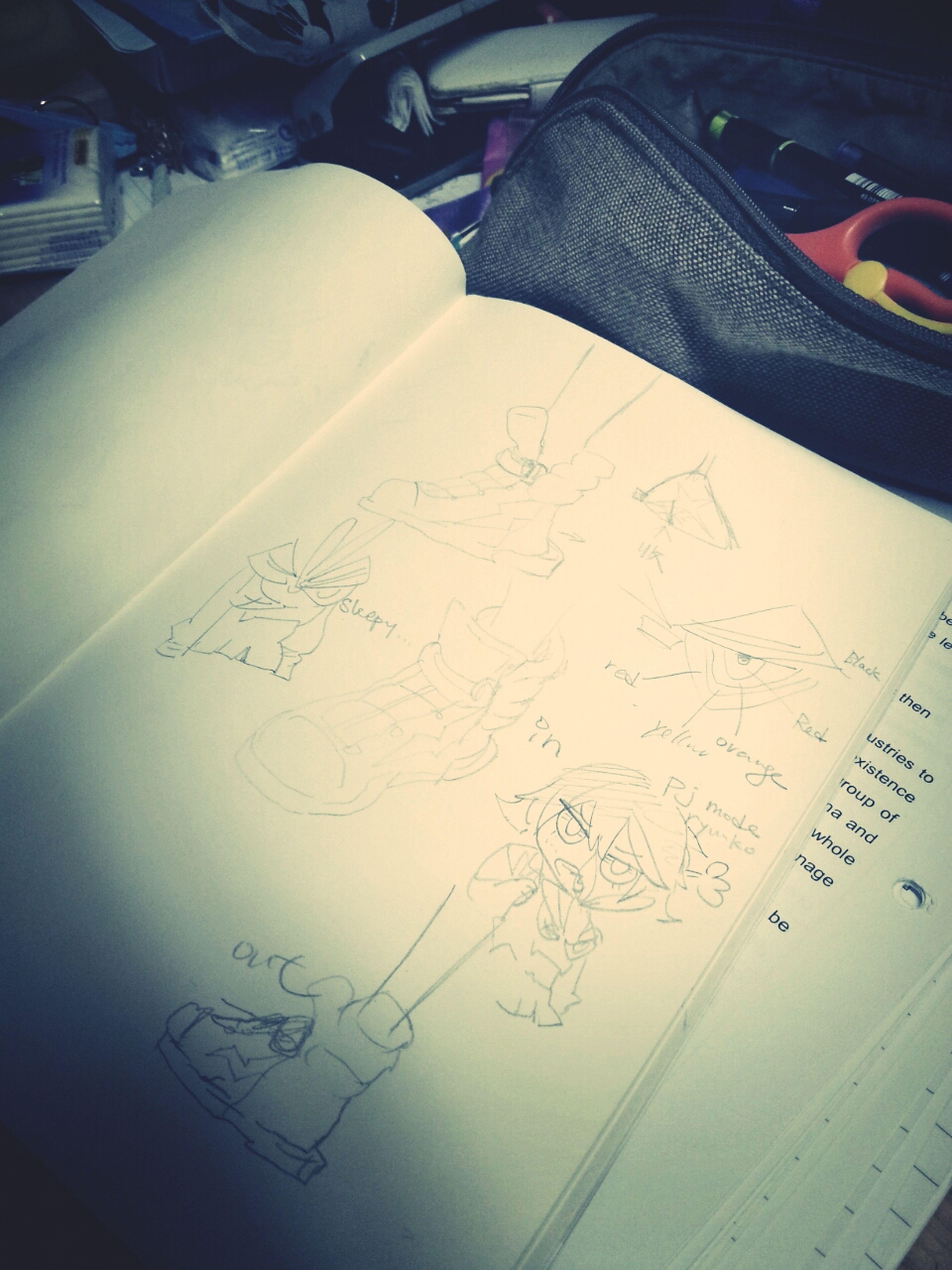 Draw for my next cos plan before sleep! Ryuuko and Senketsu TOO CUTE, and also Mr. Aikuro! Why glowing nipples???XDDDDD Kill La Kill  Cosplan Sketch Relaxing