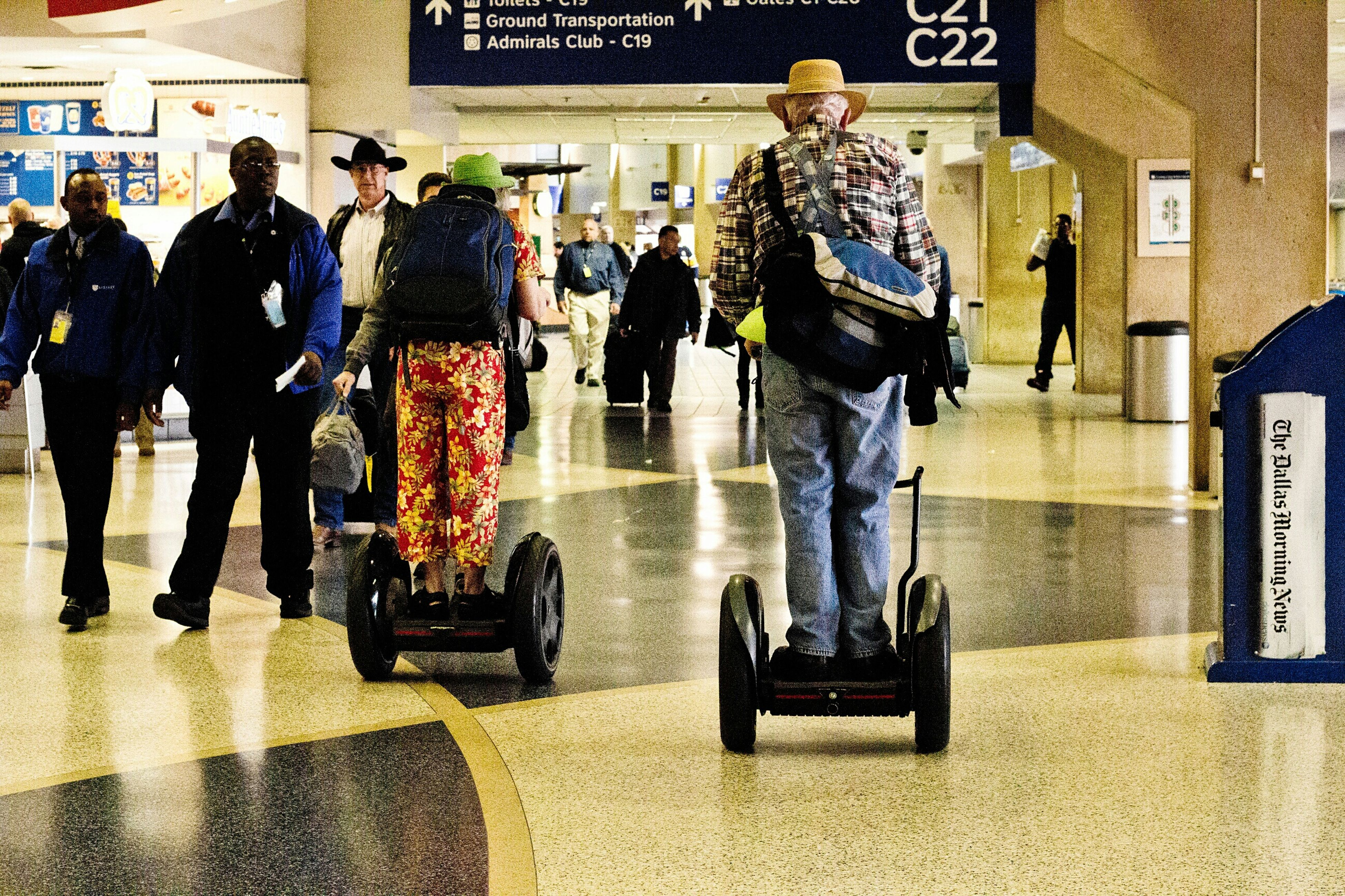 RePicture Ageing Elders On The Move Heads Up Retro Active Airport Navigation Dfw Airport