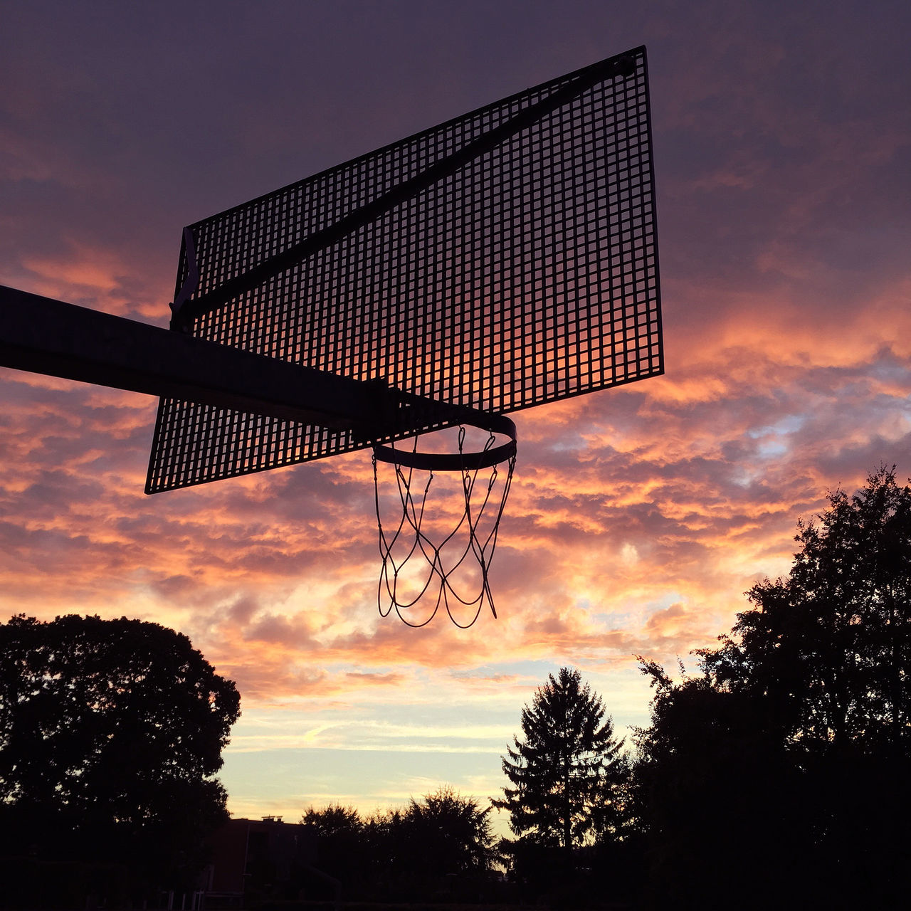 Atmosphere Atmospheric Mood Basket Basketball Basketball - Sport Basketball Court Basketball Game Basketball Hoop Basketball Hoop Basketball Is Life Cloud Cloud - Sky Cloudscape Dramatic Sky Low Angle View Meteorology Moody Sky No People Outdoors Scenics Silhouette Sky Sunset Tranquil Scene Tranquility