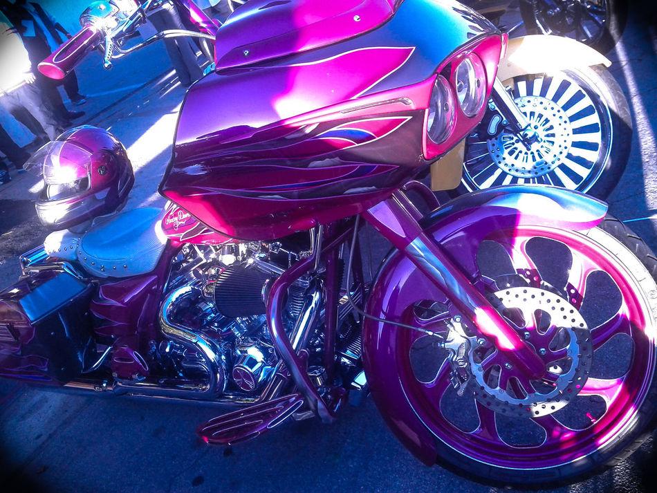 Chrome Color Custom Bikes Harley Davidson Harley-Davidson Helmet Magenta Motorcycle Motorcycle Dreams Pink Shiny Things