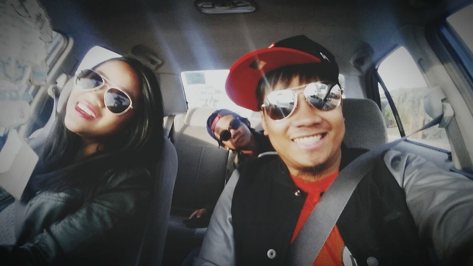 On our way to church! Have a blessed day everyone 😄😄😄 Enjoying Life Have A Blessed Sunday  ThankYouLord Fistpump Hello World Withsiblings We Are Family