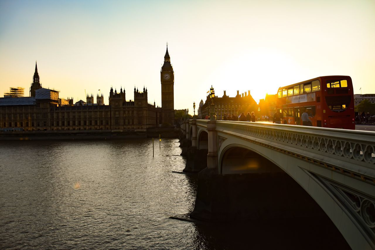 Westminster bridge Architecture River Building Exterior Travel Destinations City Clear Sky Outdoors Water Illuminated Sunset City Life Tourism United Kingdom Photo Of The Day London Photoshoot Photographer City Of London Travel Bridge Uk Photography Bridge - Man Made Structure Transportation Westminster