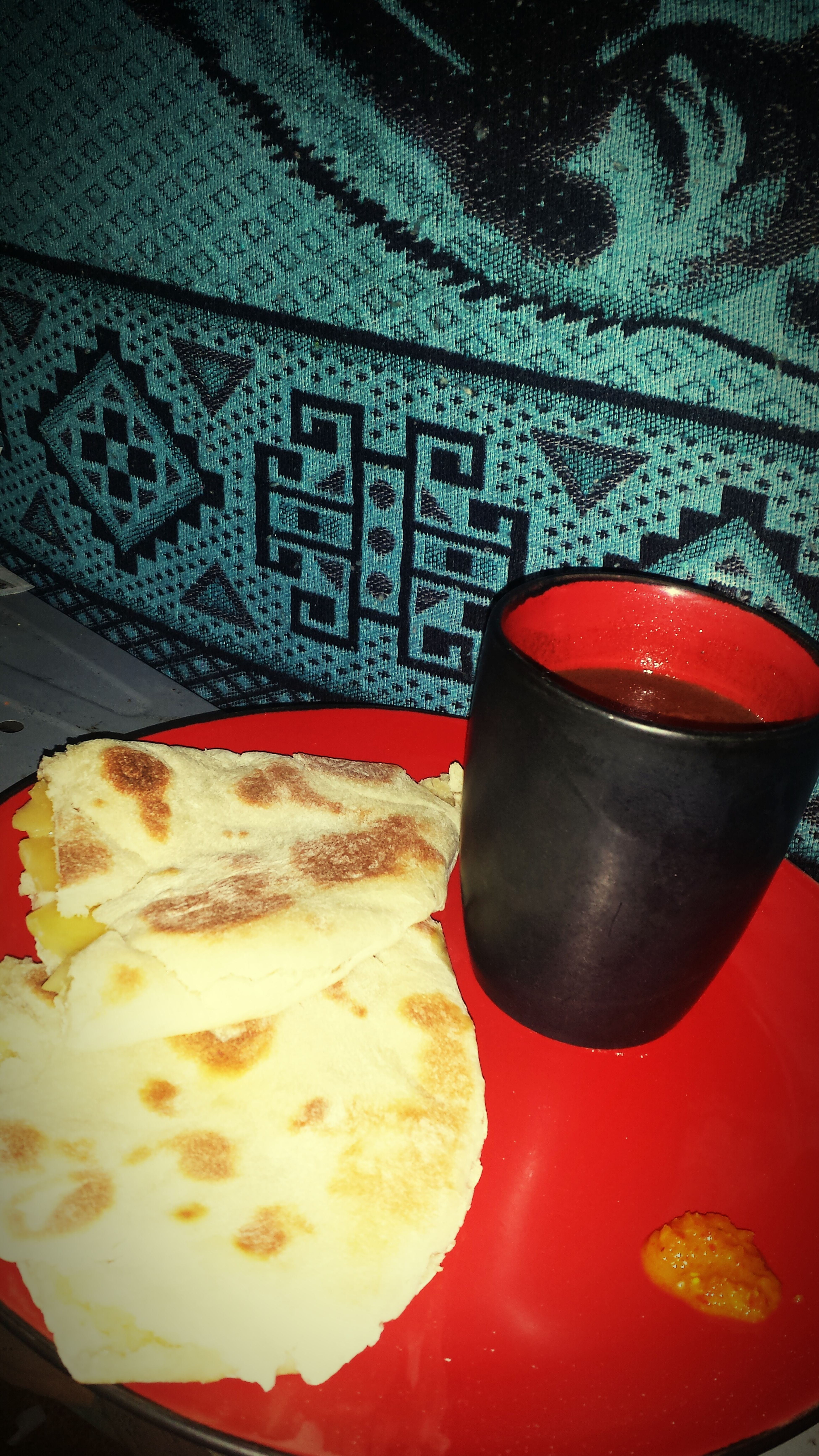 Throwback to childhood ♡ Pot Bake Cheese Cocoa Tea My View Yummy♡ Food Porn In My Mouth  Hungry Trinidad And Tobago Cooking