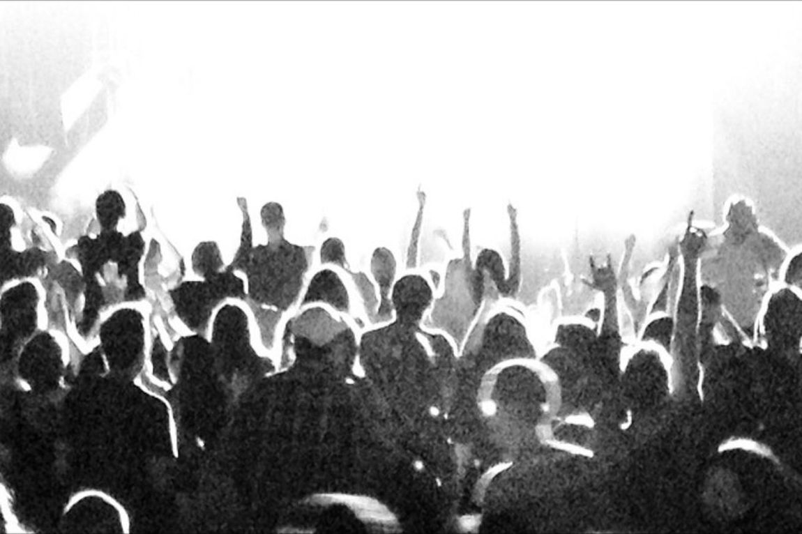 Concert Black And White Grain Silohuette Shades Of Grey Music Crowd