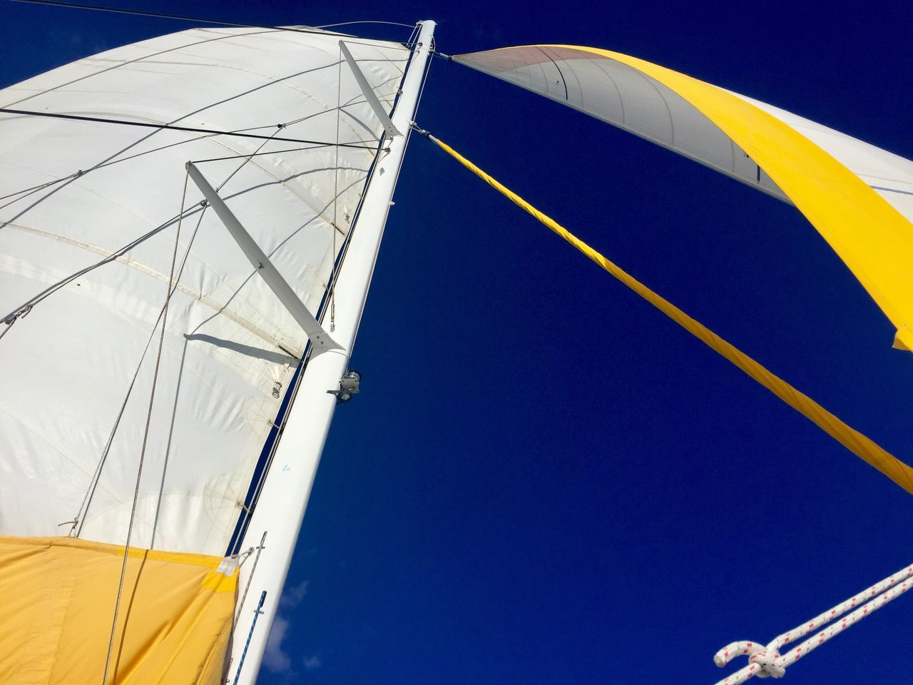 Sailing Sail Lookingup Looking Up Blue Blue Sky Caribbean Anguilla