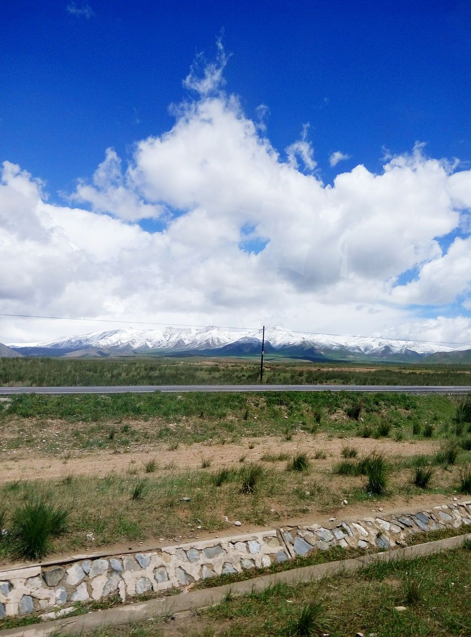 Xining On The Road Travelling Having Fun Snow Mountain