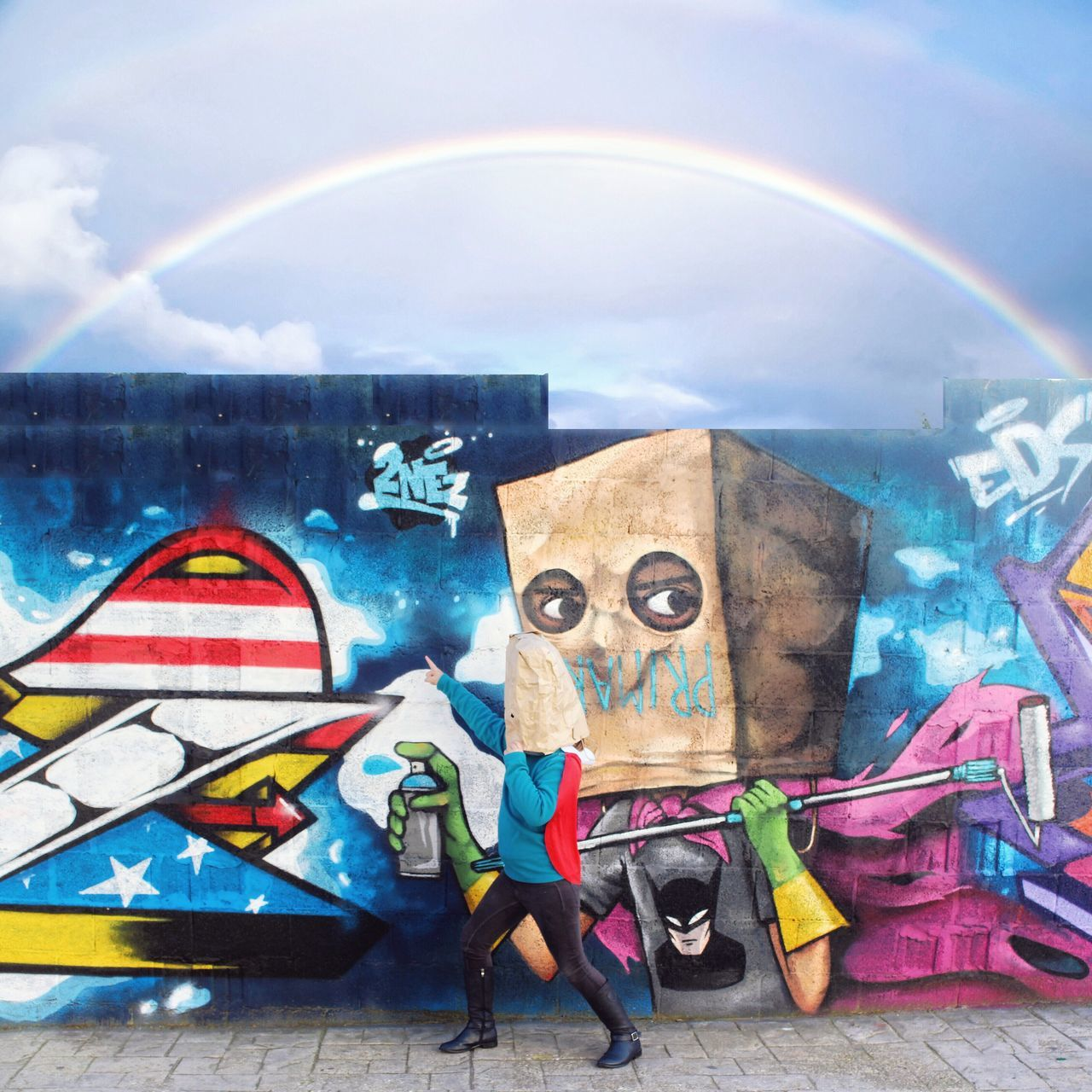 Creativity Human Representation Multi Colored No People Sky Day Representation Architecture Outdoors Graffity And Artstreet Graffiti