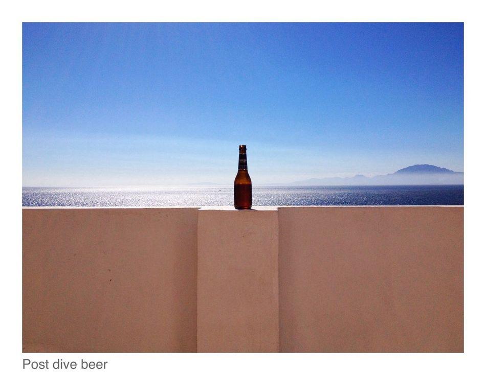 post dive beer Enjoying The Sun