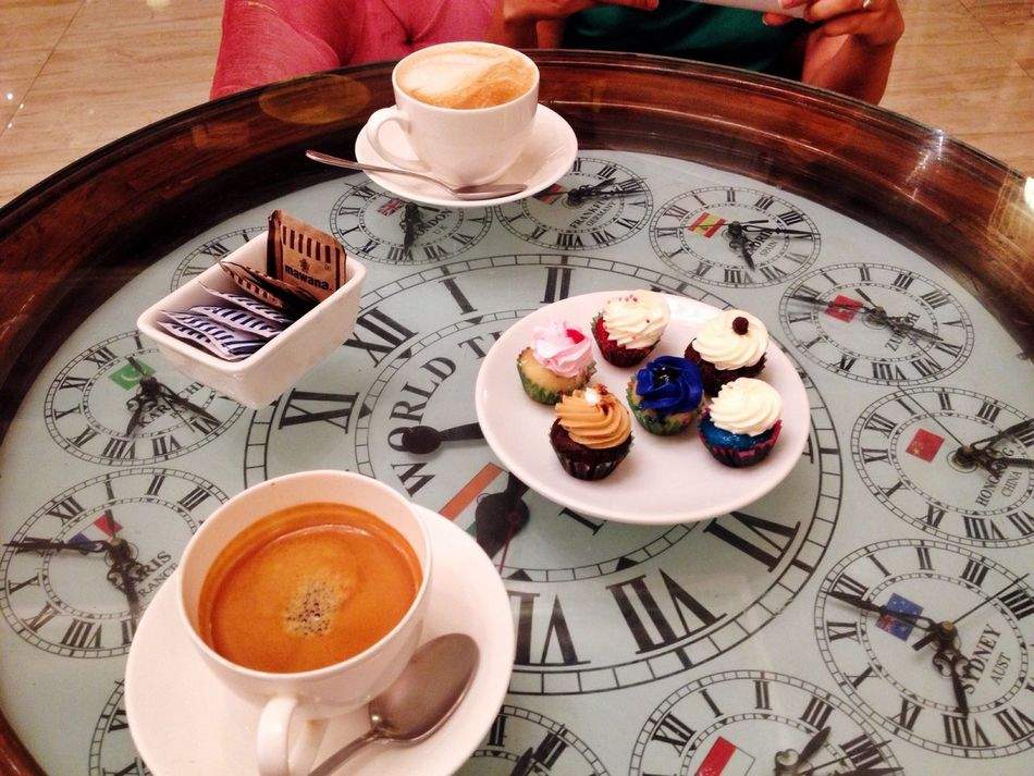 The Foodie - 2015 EyeEm Awards IPhoneography Pune Expresso  Cappuccino Mini Cupcakes Love Sugar Dough Pink Butter Yum