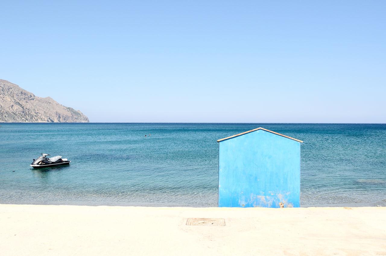 Beautiful stock photos of ocean, Architecture, Beach Hut, Blue, Built Structure