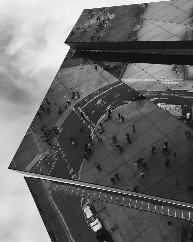 The Architect - 2016 EyeEm Awards Reflections Architecture Architecture_collection Architecture_bw Hombrecitos Streetphotography Streetphoto_bw IPhoneography Iphoneonly Iphonephotography EyeEm Best Shots - Black + White Blackandwhite Black & White Black And White Eye4black&white  Bw_collection Lookingup From My Point Of View TheWeekOnEyeEM Barcelona Building Exterior