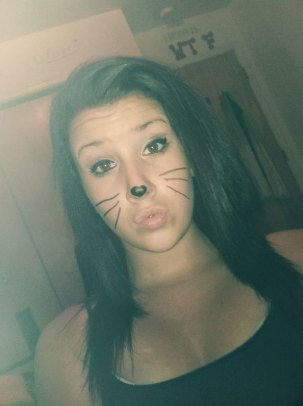 looked kinda cute last night and then i got bored and his happened... ha Kitty Duckface Yesterday I Be That Pretty Mf
