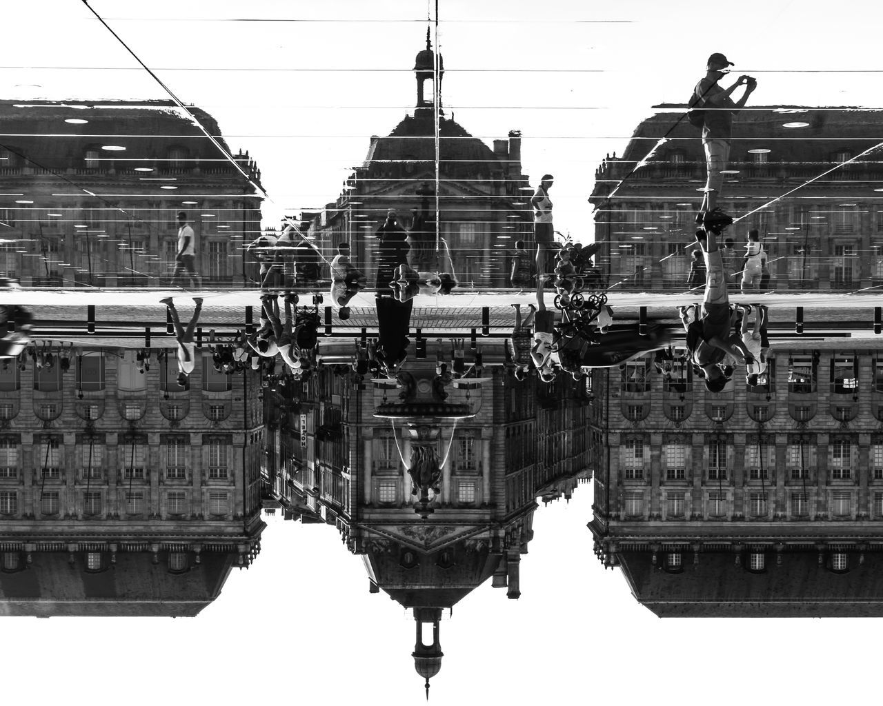 Architecture Blackandwhite Bordeaux Building Exterior Built Structure Cool EyeEm EyeEm Best Shots EyeEm Gallery Fine Art Photography France Fresh On Eyeem  Holiday Large Group Of People Reflection Street Streetphotography This Week On Eyeem Tourism Tourist Tourist Attraction  Upside Down Vacation Water
