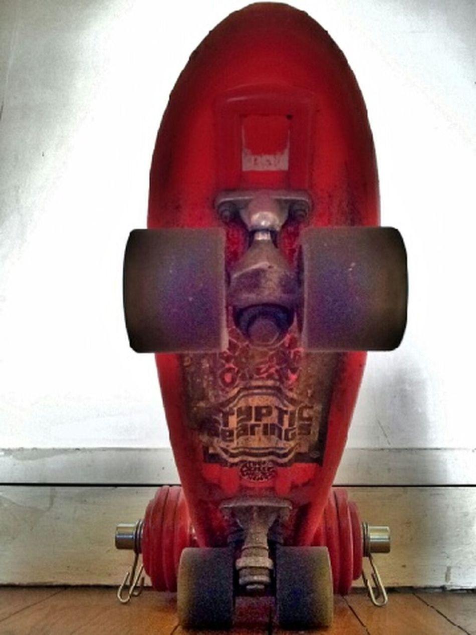 Skateboarding Cruiser Red Perspective