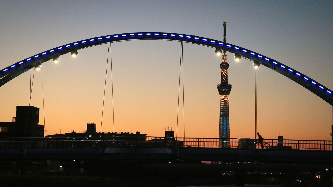 Sunsets Bridge Skytree Night Tokyoskytree NightscapeIlluminated Tower Sillouette Nightphotography Lighting Japan Tokyo
