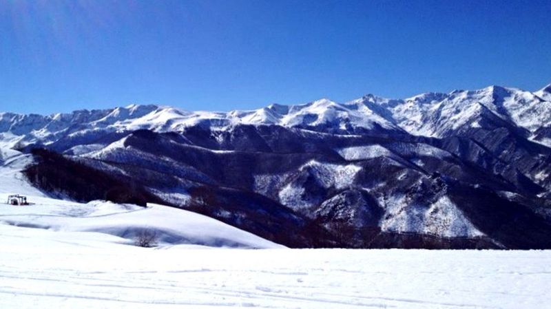 Snow Clear Sky Mountains Skiing Winter