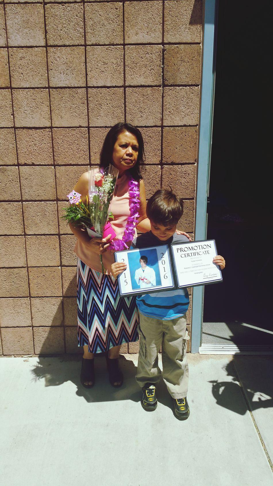 Graduating kindergarten. Thats My Boy