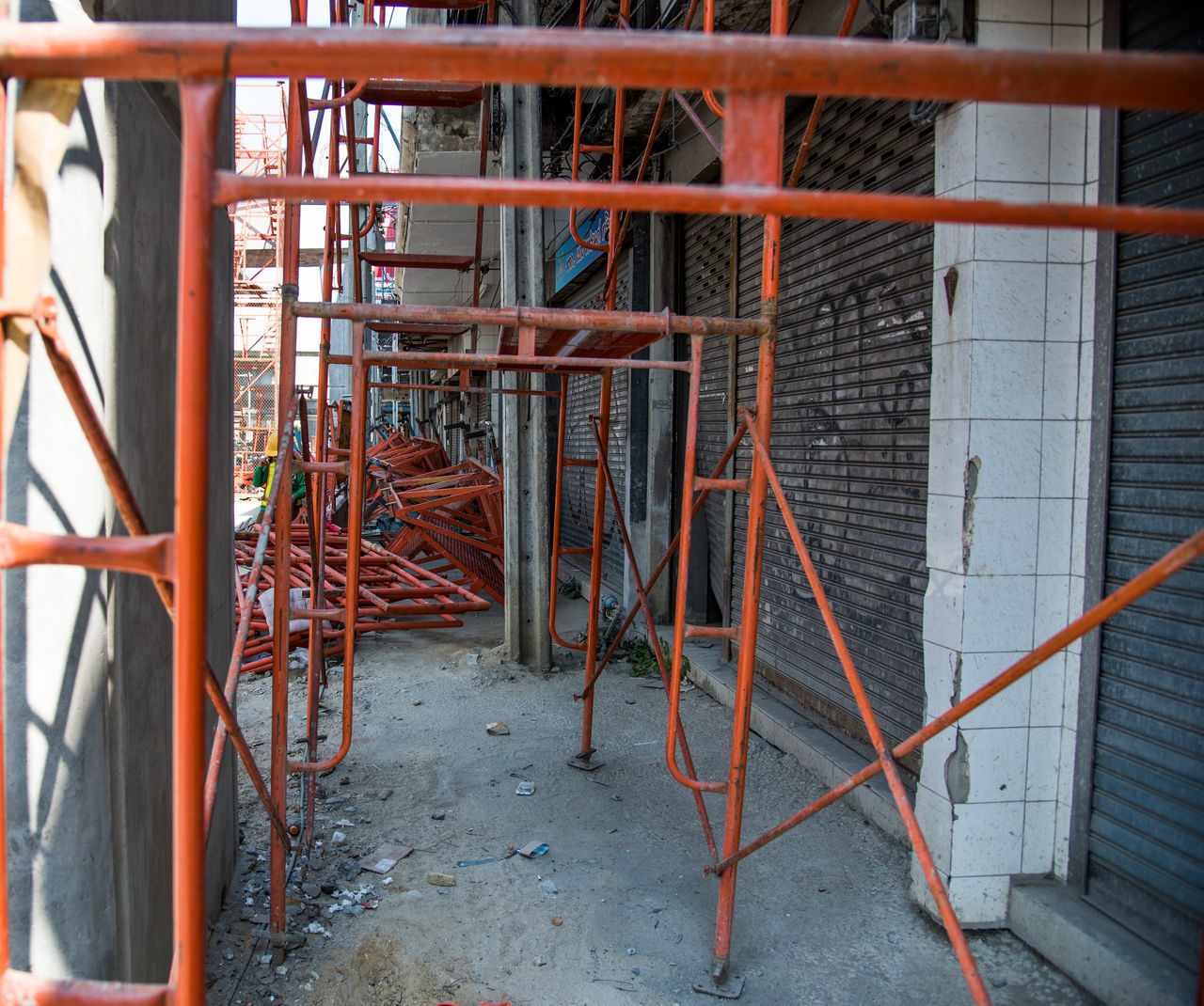 metal, construction site, built structure, no people, day, indoors, architecture