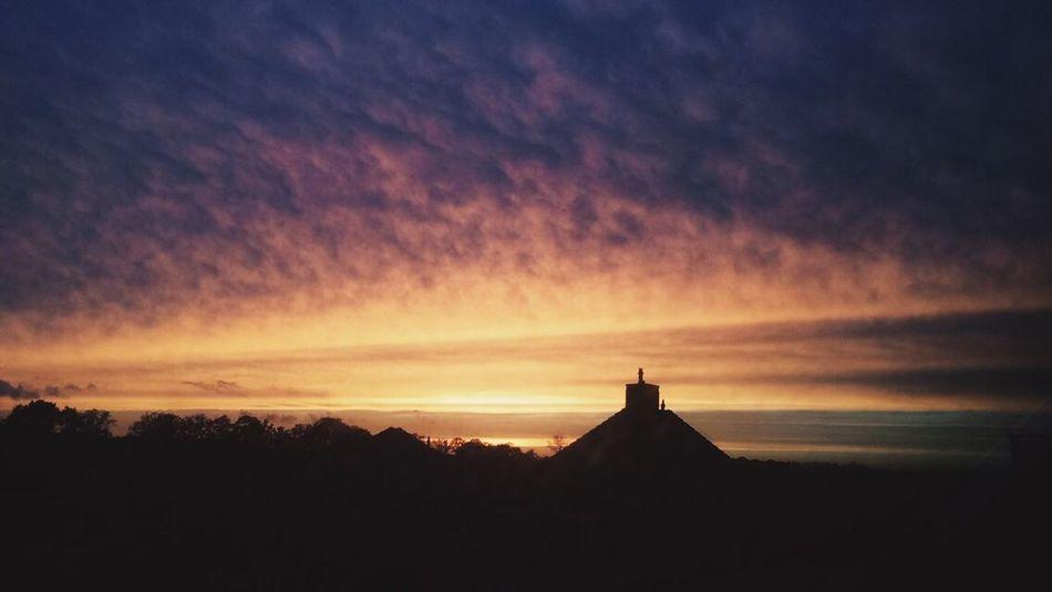 Sunset Sun See You Tomorrow. Beautiful