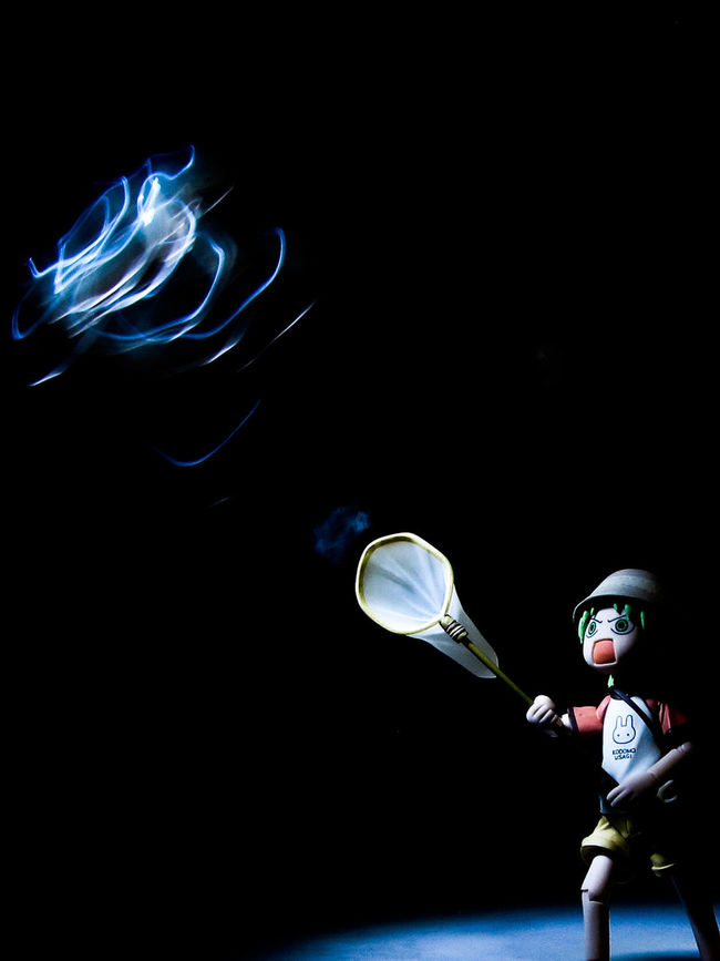 Black Background Firefly Lightpainting Lowkey  Manga One Person Toy Toyphotography Yotsuba