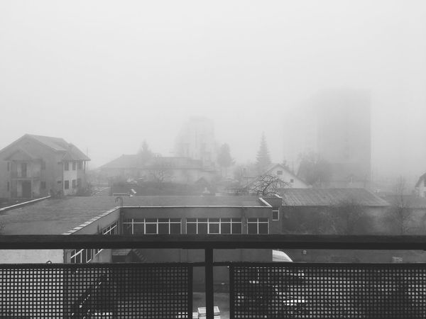 Fog Building Exterior Architecture Built Structure Foggy City Mist Day No People Cityscape Outdoors Water Foggy Morning Foggy Day Foggy Weather Creative Photography