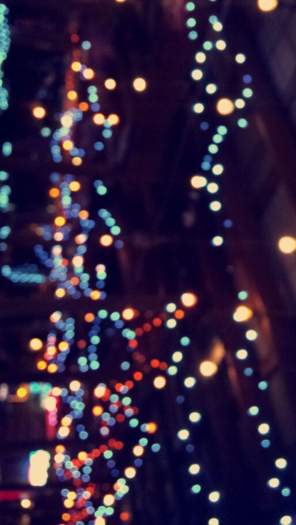 Ocean City I am in You Defocused Illuminated Multi Colored Night Black Background OceanCity