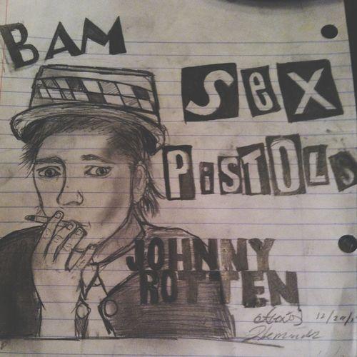 """Drew Jonny Rotten from the Sex Pistols ! (I know the """"s"""" is a little shaded in . Jonny Rotten  Jonh Lydon Sex Pistols"""