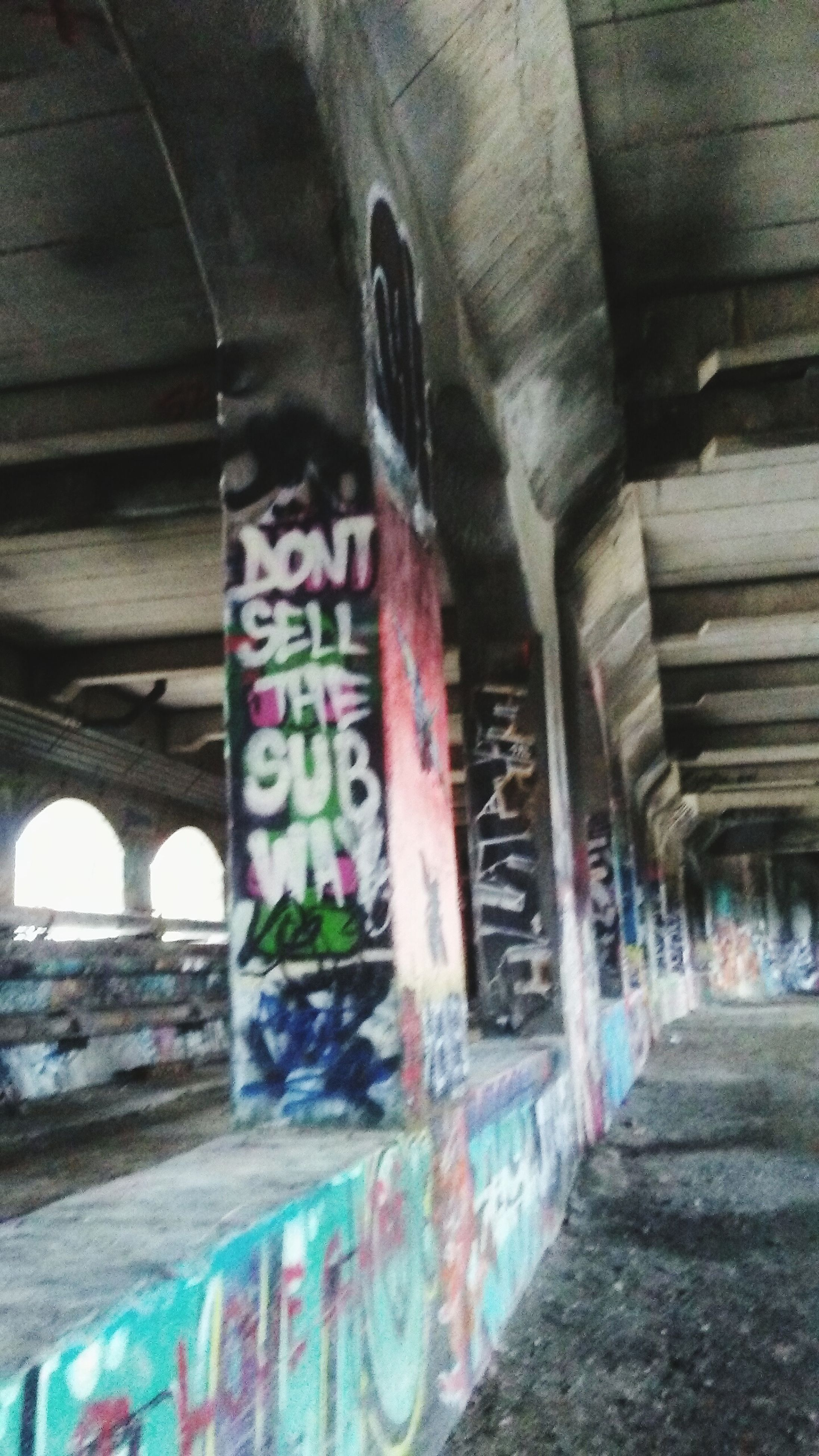 graffiti, architecture, built structure, indoors, no people, day, multi colored, water, close-up