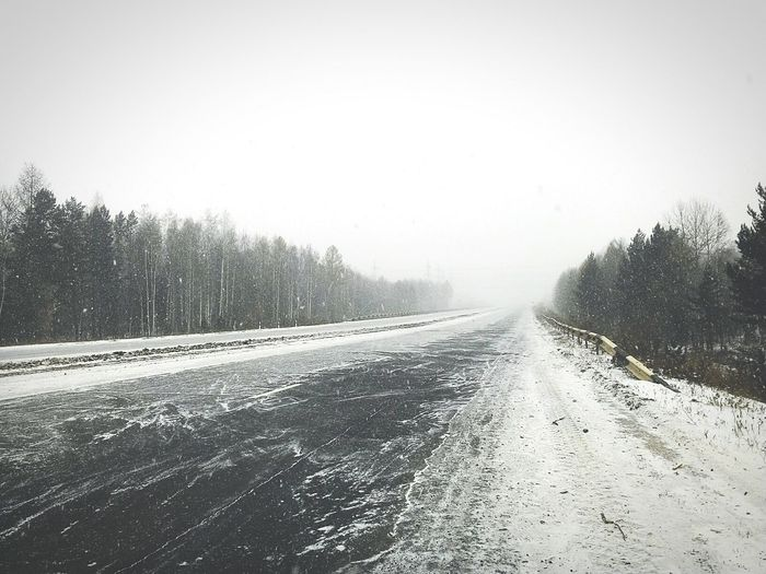 Winter Winter Snow Weather Nature Cold Temperature Tree Snow Transportation Winter Landscape Day Road Outdoors Snowing No People Sky