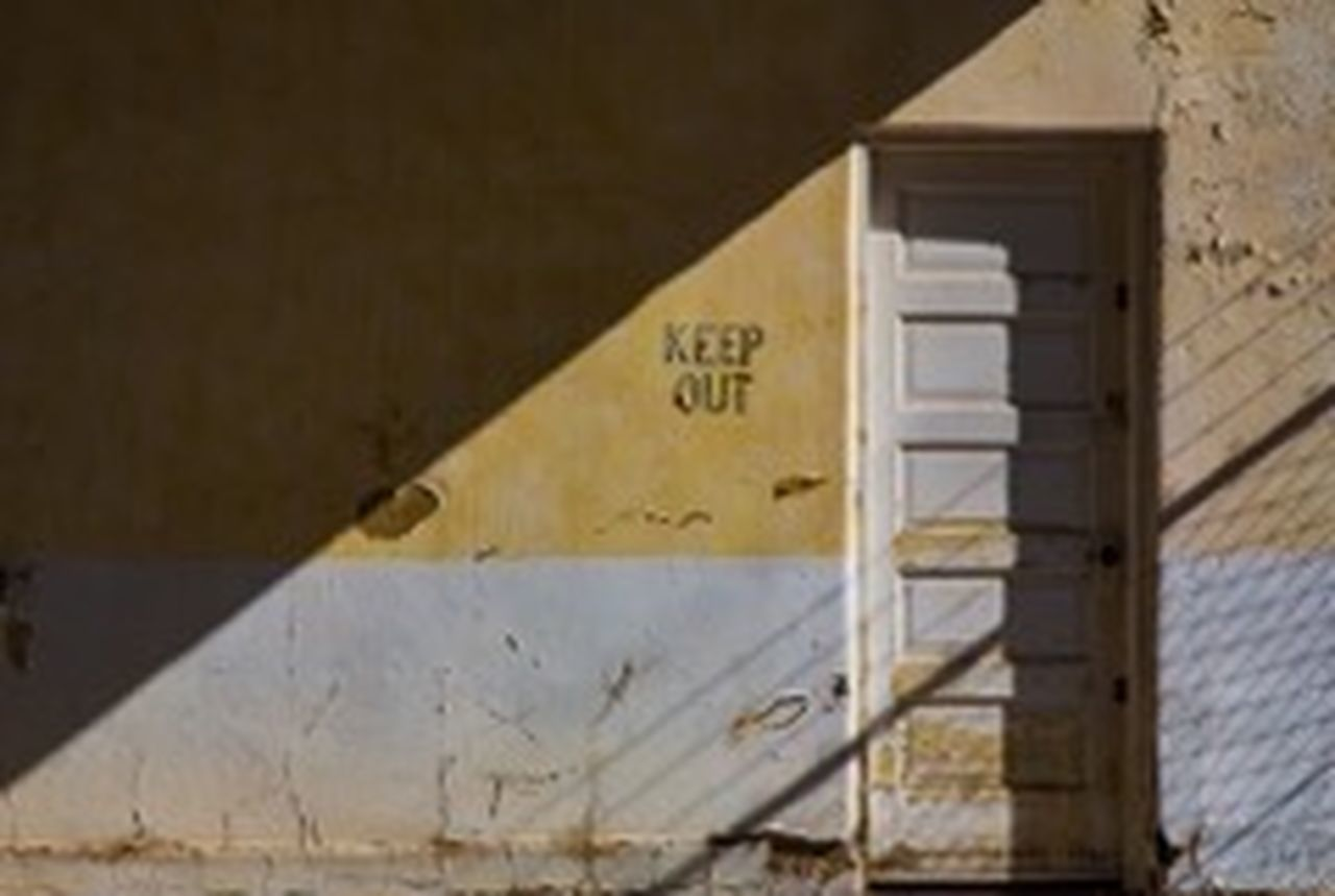 Keep out #the Light Of City Yellow Wall