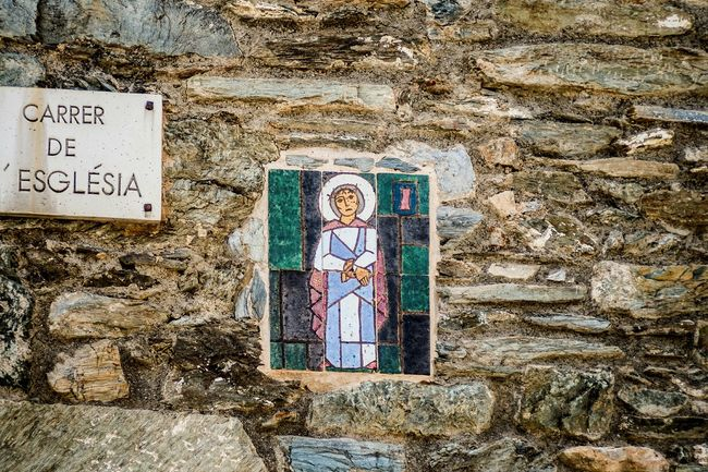 I'm not a religious person at all, but I find this series of images representing the Station of the Cross particularly beautiful. They're located in Queralbs (Girona), a small town in the Catalan Pyrenees. Station 1: Jesus is condemned to deathStations Of The Cross Color Stonewall Ceramic Iconoghraphy Open Edit