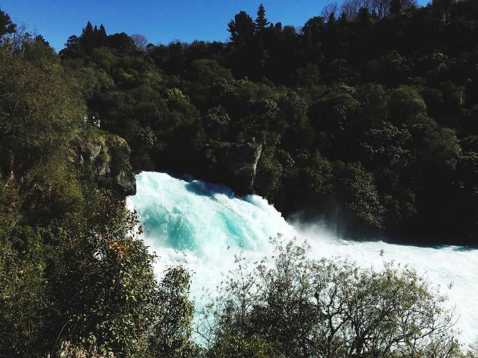 Nature Beauty In Nature Waterfall Water Power In Nature Turquoise Huka Falls, NZ