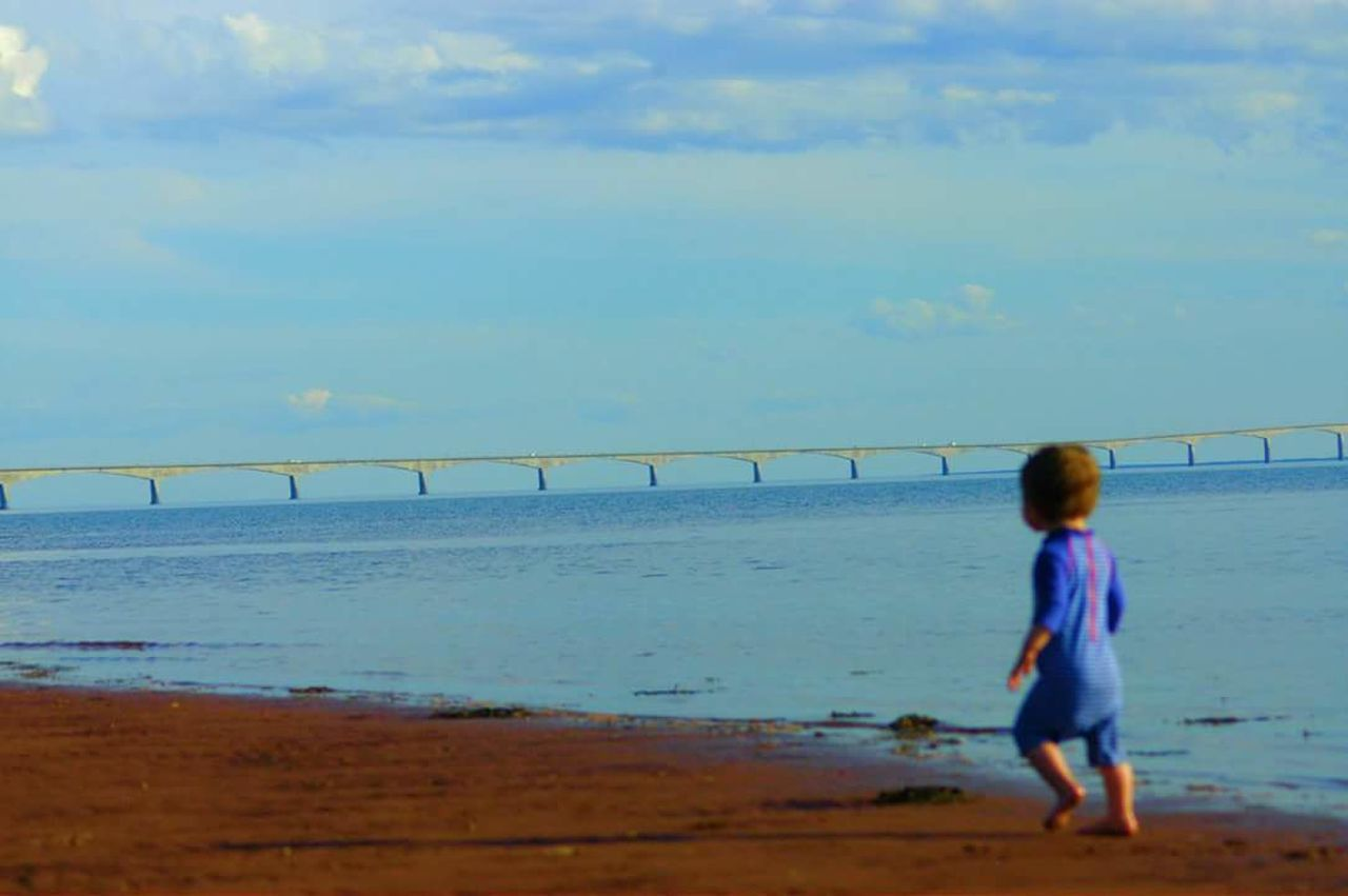 Pei Princeedwardisland Beach Horizon Over Water Childhood Sky Confederationbridge Cute Awesome Adorable Amazing KOOL Cool