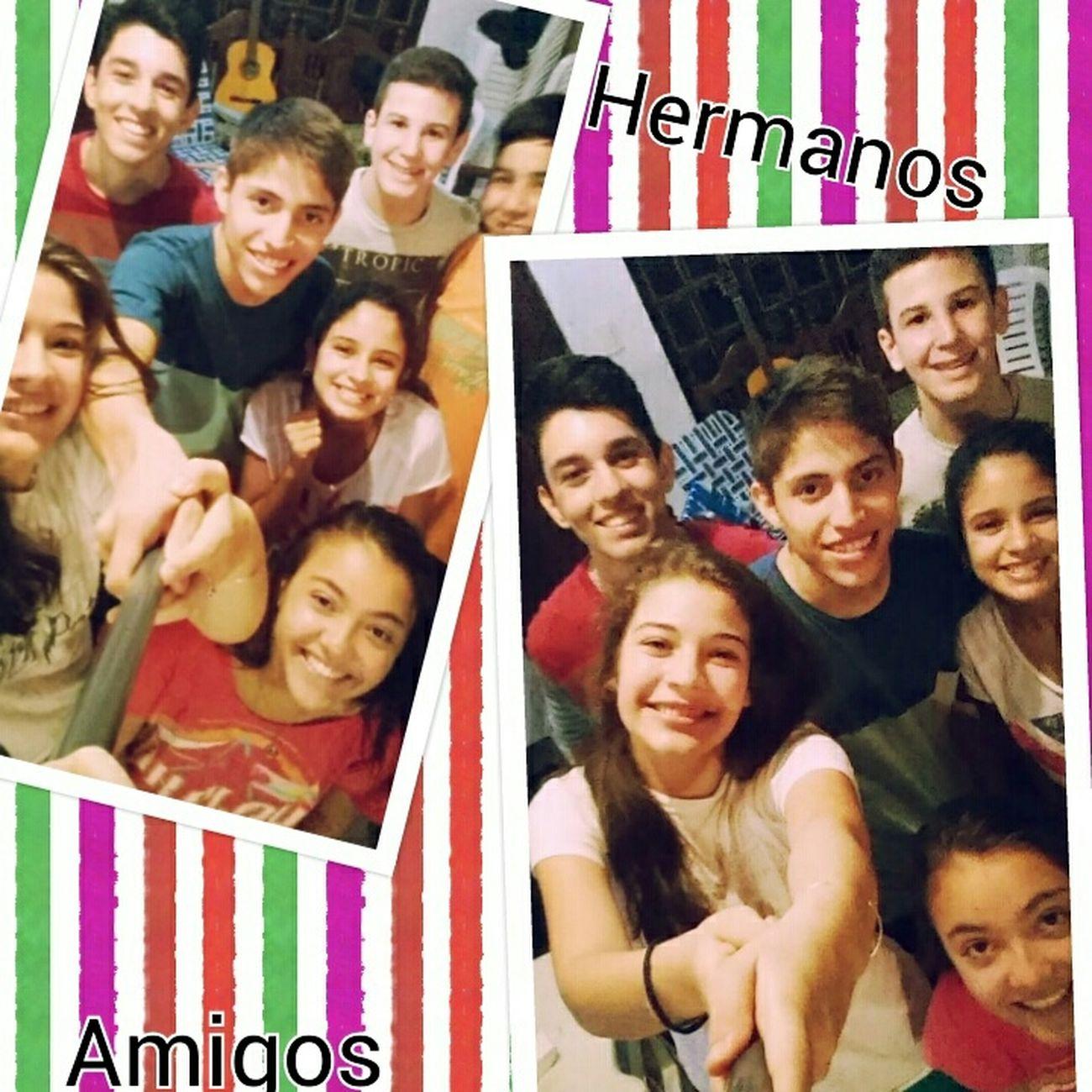 """""""Quien encuentra un amigo, a encontrado un tesoro""""♥ Hermanos Amigos♥ GraciasSeñor Losamo"""