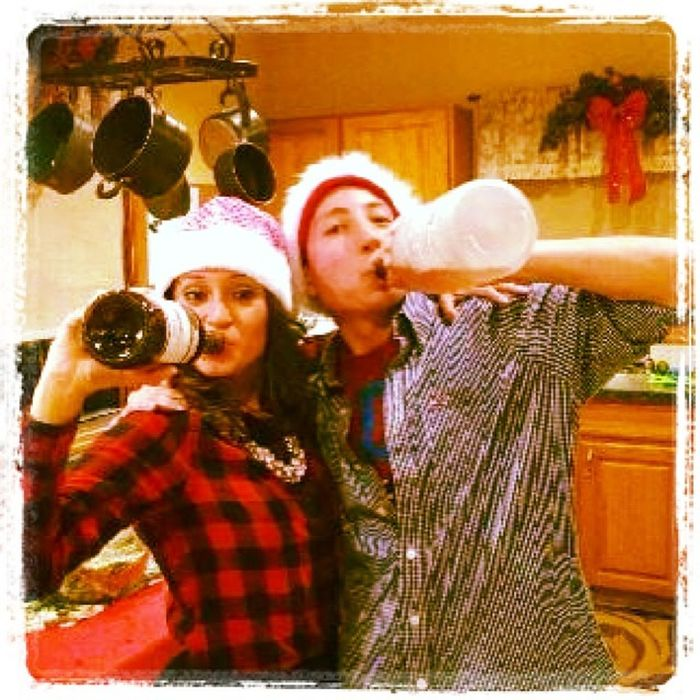 Christmas eve with the cousin @jules_ruiz Drinks Peruvianstyle
