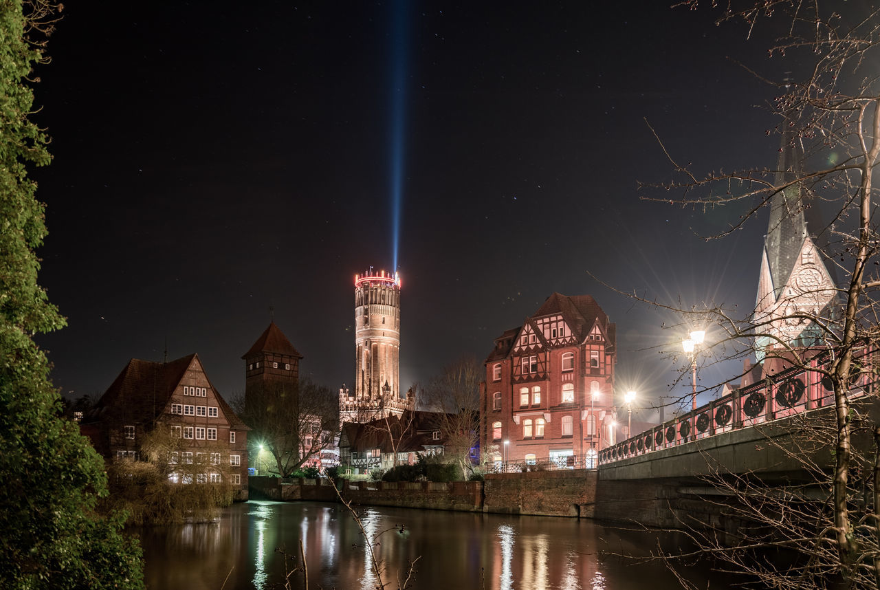 Lüneburger Altstadt, 1. Advent Advent Season Brick Building Bridge - Man Made Structure Christmas City City Center Illimination Night Old Town Reflection Sight Sky Star - Space Tourist Attraction  Waterfront