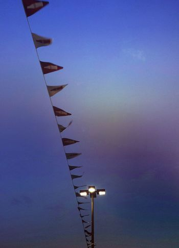 Blue Sky Shapes And Forms Perspective EyeEm Ready   Still Life Cloud - Sky Light And Shadow Popular Streetphotography Minimalism Color Palette Abstract City Lights Flags In The Wind