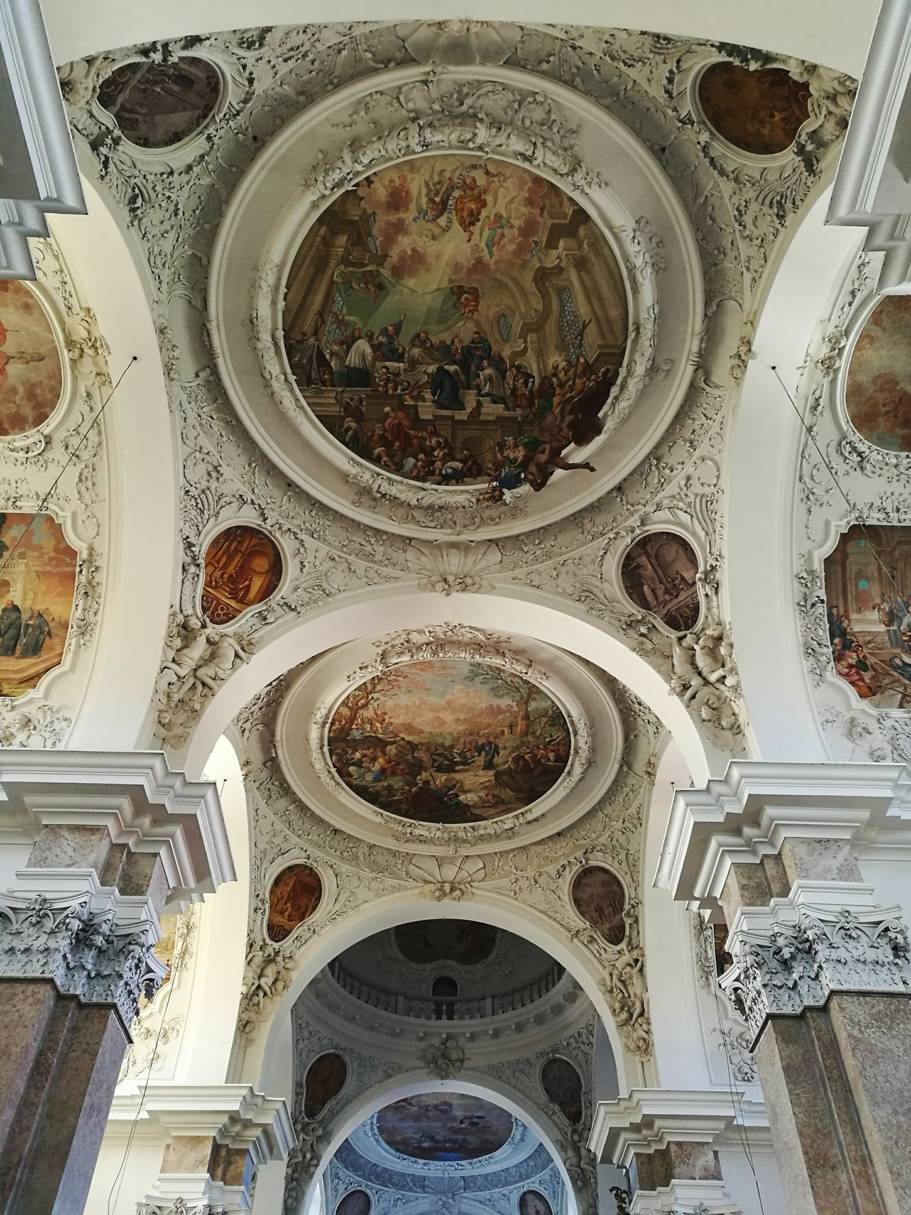 Atmosphere Of Peace Church Füssen Icons Holly Paintings Paintings Perspective Ceiling Look Up