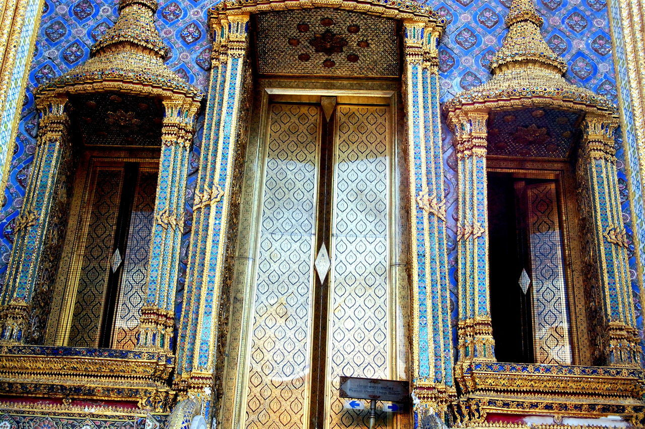 Architecture Bangkok Thailand Building Exterior Built Structure Close-up Day Grand Palace Bangkok Thailand History Indoors  Low Angle View No People Ornate Place Of Worship Religion Spirituality Thailand Traditional Thailand Travel