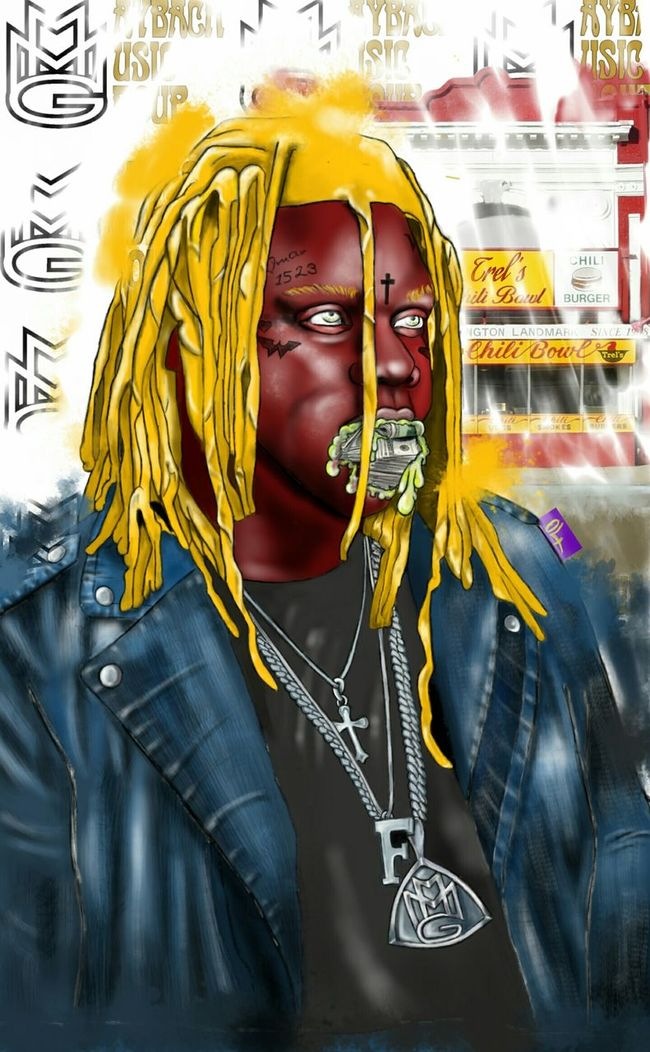 ~Trel's Wrack~ my latest piece. Rapper Fat Trel all done in a redskins colorway. All hand drawn on my galaxy note 3/5...for all inquires please contact me here: thatfabone@gmail.com FatTrel MMG ArtWork Popart