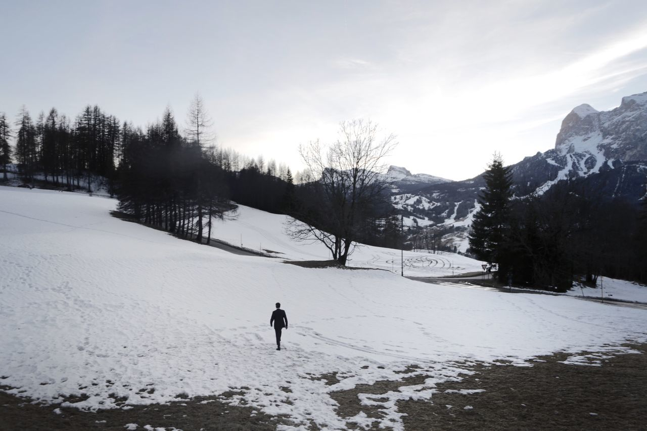 Italy Winter Snow Cold Temperature Nature Real People Weather Tree Scenics Beauty In Nature One Person Outdoors Sky Landscape Leisure Activity Day Italy❤️ Winter Wonderland Winter