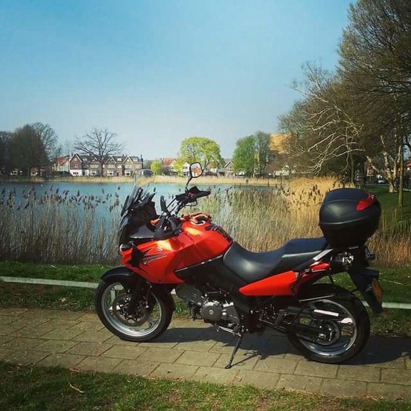 My lovely orange V-strom! 👌❤ Suzuki Vstrom VStrom Dl650 Happiness
