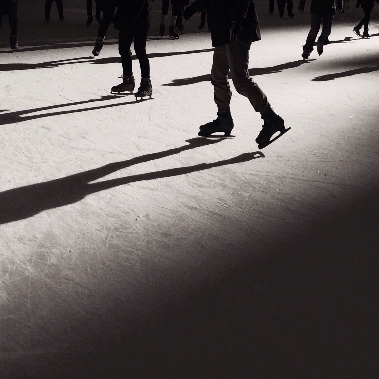 Skating Ice Skating People Watching Blackandwhite